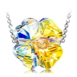 ANGEL NINA Clover Necklaces for Women Girlfriend Wife Anniversary for Wife Lover Women her 925 Sterling Silver Swarovski Clover Necklaces Birthday Gifts for Teen Girls Daughter mom Grandma (Color: 925 Sterling Silver Necklace, Tamaño: Swarovski Necklaces Aurora Borealis Necklaces)