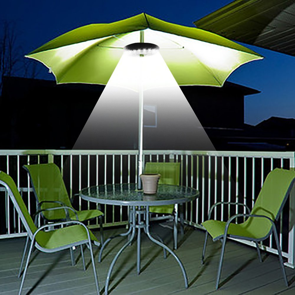 Patio Umbrella Light 3 Brightness Mode Cordless 28 LED Lights At 220 Lux  4  X AA ...