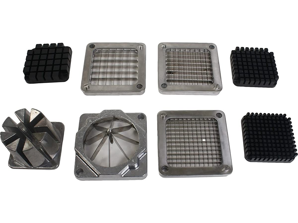Super buy Potato French Fry Fruit Vegetable Cutter Slicer Commercial Quality W 4 Blades