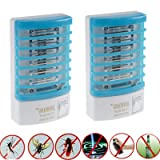2x Indoor LED Electric Mosquito Fly Bug Insect Trap Zapper Killer Night Lamp, Perfect solution against mosquitoes