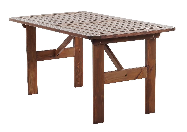 Ambientehome 90340 Gartentisch Esstisch Holztisch Massivholz Hanko Maxi, 140 x 80 cm, braun bestellen