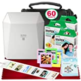 Fujifilm Instax Share SP-3 Smartphone Printer (White) with 60 Sheets of Instant Square Film with Platinum Bundle (USA Warrantty) (Color: White, Tamaño: 3PK)