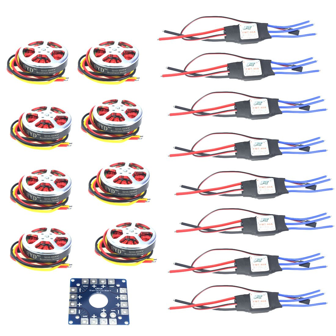 XINTE 8sets 350KV Brushless Disk Motor hohe Schubkraft W / Mount + 40A ESC für 3-6 s Octacopter Multi-Rotor