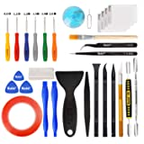 Kaisi 30 in 1 Professional Electronics Screen Opening Pry Tool Repair Kit with Steel and Carbon Fiber Nylon Spudgers, Double Side Adhesive Tape and 6 Screwdrivers for Open Cellphone, Laptops, Tablets (Color: 30 Pcs Screen Opening Rry Kit, Tamaño: 30 in 1)