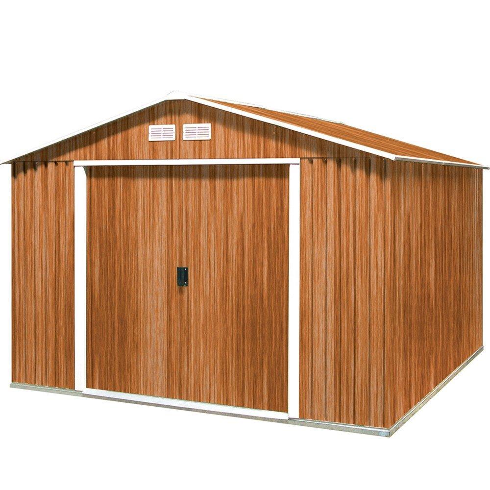Tepro Gartenhaus / Metallgerätehaus Colossus 10x10 Holzoptik