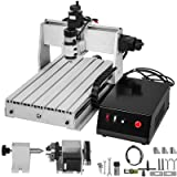 VEVOR CNC Machine 3040 CNC Router 4 Axis CNC Router Engraver Machine 500W CNC Router Engraving Drilling Milling Machine MACH3 with Usb Port for DIY Artwork 3D Cutter(4 Axis,3040,500W) (Color: 4 Axis, Tamaño: 300x400mm)