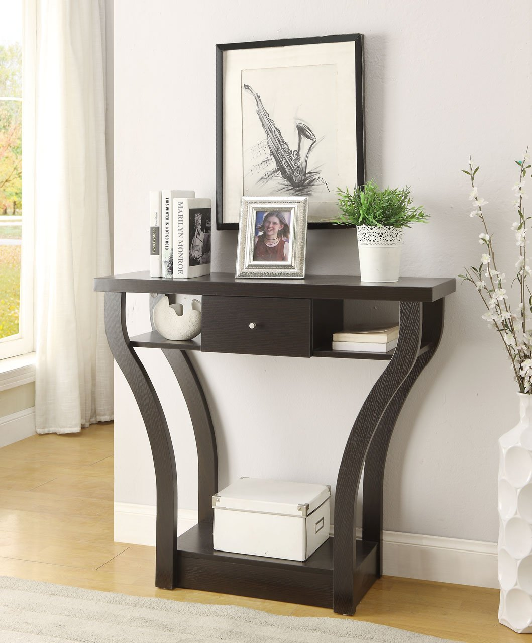 Console Sofa Entry Table With Drawer Hallway End Accent