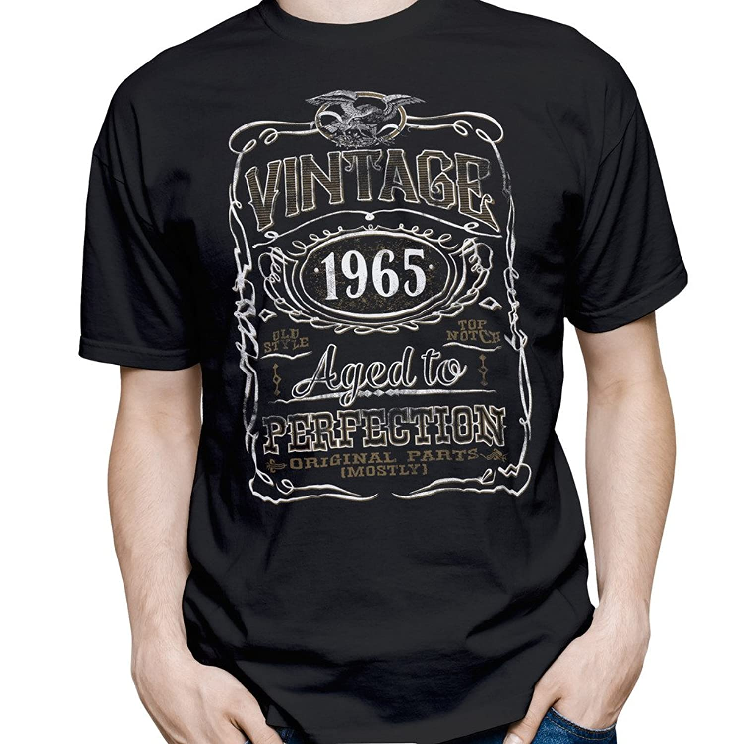 Vintage Aged To Perfection 1965 – Distressed Print – 50th Birthday Gift T-shirt