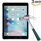New iPad Pro 12.9 (2017) / iPad Pro 12.9 Screen Protector [3-Pack],TANTEK Tempered Glass / Bubble-Free / Anti-Scratch Screen Protector For 12.9-inch iPad Pro (2015/2017 Model) (Color: NewiPad12.9-3pack)