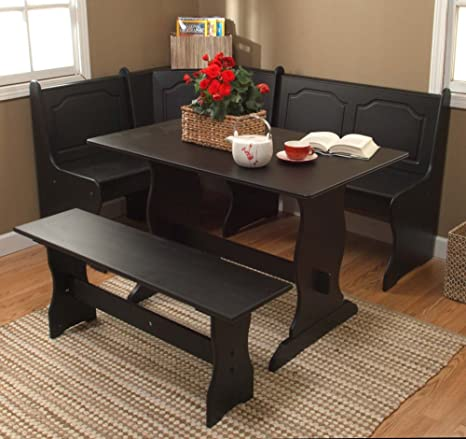 TMS 3-Piece Nook Dining Set, Black