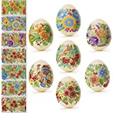 Ukrainian Heat Shrink Wrap Sleeve Decoration Easter Egg Stickers Wrappers Pysanka Arounds Set (Classic) (Color: Classic)