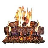 Peterson Real Fyre 24-inch Live-Oak Log Set With Vented Burner, Match Lit (Natural Gas Only) (Color: Live Oak [Ng] [Includes Gas Connection-kit], Tamaño: 24-Inch)