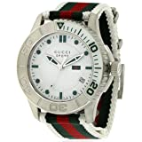 Gucci G Timeless Striped Nylon Strap Mens Watch YA126231