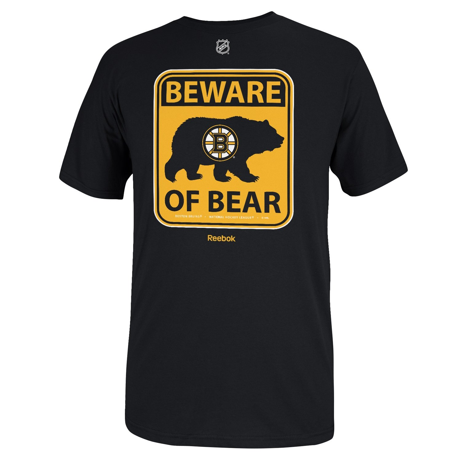 boston bruins beware of bear sign t shirt black ebay
