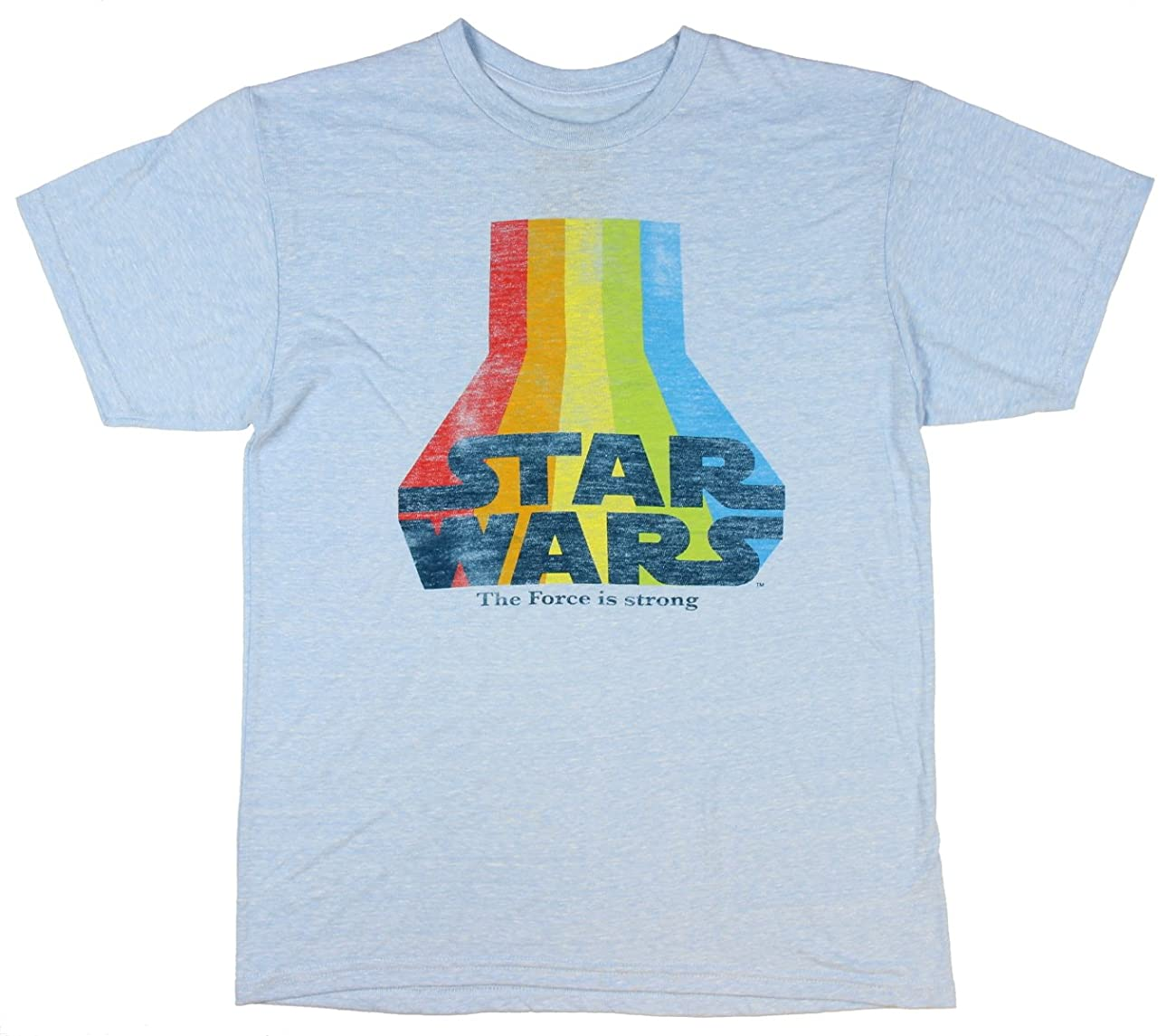 Star Wars The Force Is Strong Vintage Logo Graphic T-Shirt 0