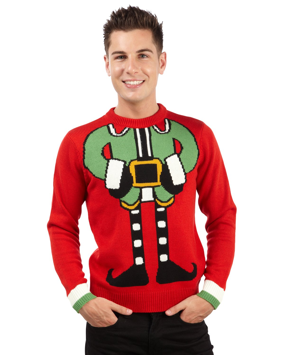 Elf Body Christmas Jumper Sizes XS to XXL