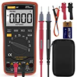 Autoranging Multimeter Test for Temperature AC/DC Voltage, Current, Resistance, Continuity, Capacitance, Frequency,Diodes Transistors (Tamaño: 19B)