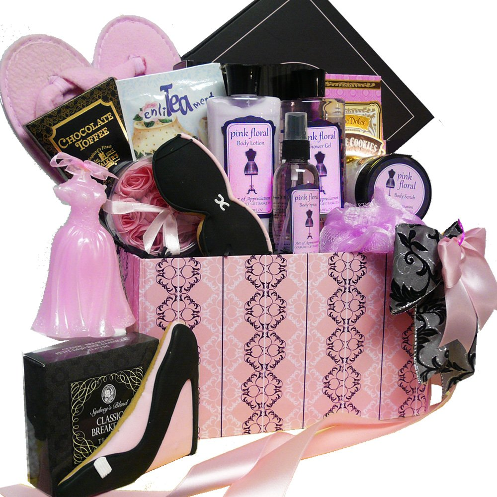 Floral Spa Bath and Body Care Package Gift Box