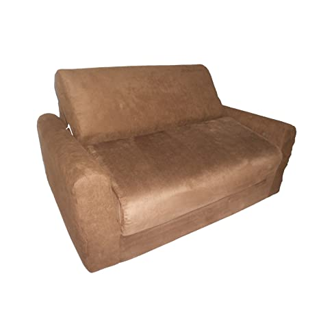Micro Suede Kid's Sofa Sleeper Color: Brown