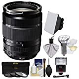 Fujifilm 18-135mm f/3.5-5.6 XF R LM OIS WR Zoom Lens + Flash + Soft Box + 2 Diffusers + 3 Filters Kit for X-A2, X-E2, X-E2s, X-M1, X-T1, X-T10, X-Pro2 (Color: Black)
