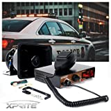 Xprite 200 Watt 8 Tones Emergency Warning Siren Speaker PA System Kit w/ Handheld Microphone & Light Control Switches for Police Cars (Tamaño: Siren Speaker w/ Microphone)