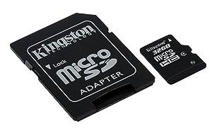 Kingston Digital 32 GB microSDHC Flash Memory Card SDC4/32GB