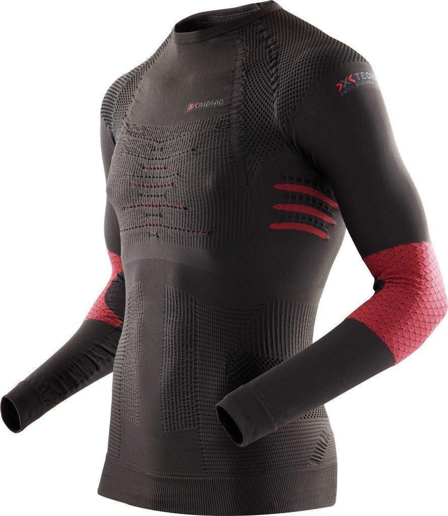 X-Bionic Ski Touring Shirt Long Men xI20154, stone/red