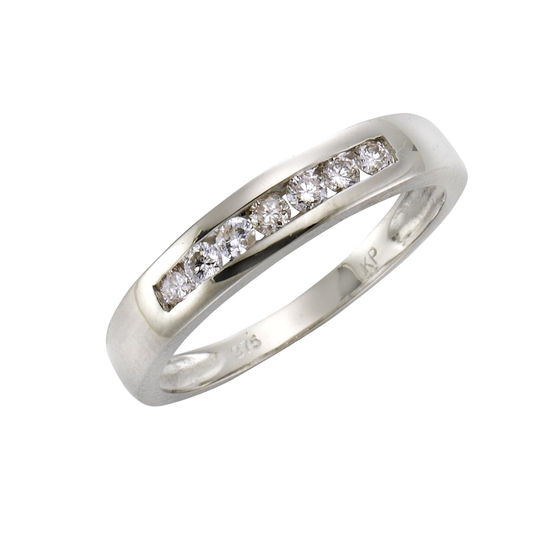 Diamonds by Ellen K. Damen-Ring 375 Gelbgold rhodiniert Diamant (0.25 ct) Brillantschliff weiß Gr. 50 (15.9) – 360370072-8 jetzt bestellen