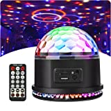 Disco Ball Party Light Sbolight Disco Lights RGB MP3 Crystal Magic Ball Sound Activated DJ Lights Mini Rotating Strobe Stage Lights with Remote Control for Home Party Gift Kids Birthday Dance Club Bar (Color: MP3 disco ball)