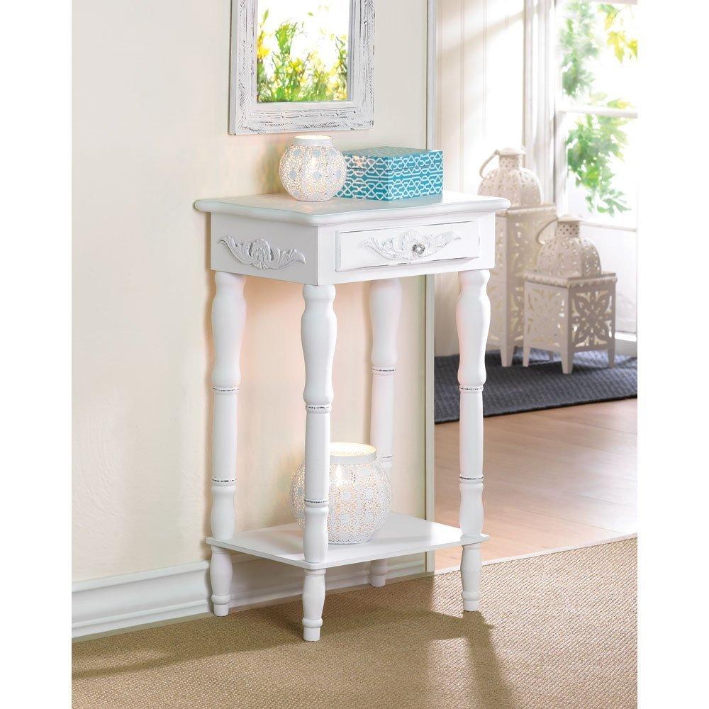 Sunshine Megastore Carved White Side Table 1