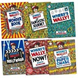 Martin Handford Where's Wally Containing 6 Books - Book 1 Where's Wally, Book 2 Now, Book 3 Where's Wally The Fantastic Journey, Book 4 Where's Wally In Hollywood, Where's Wally The Wonder Book, Book 6 Where's Wally The Great Picture Hunt Set Pack Collec