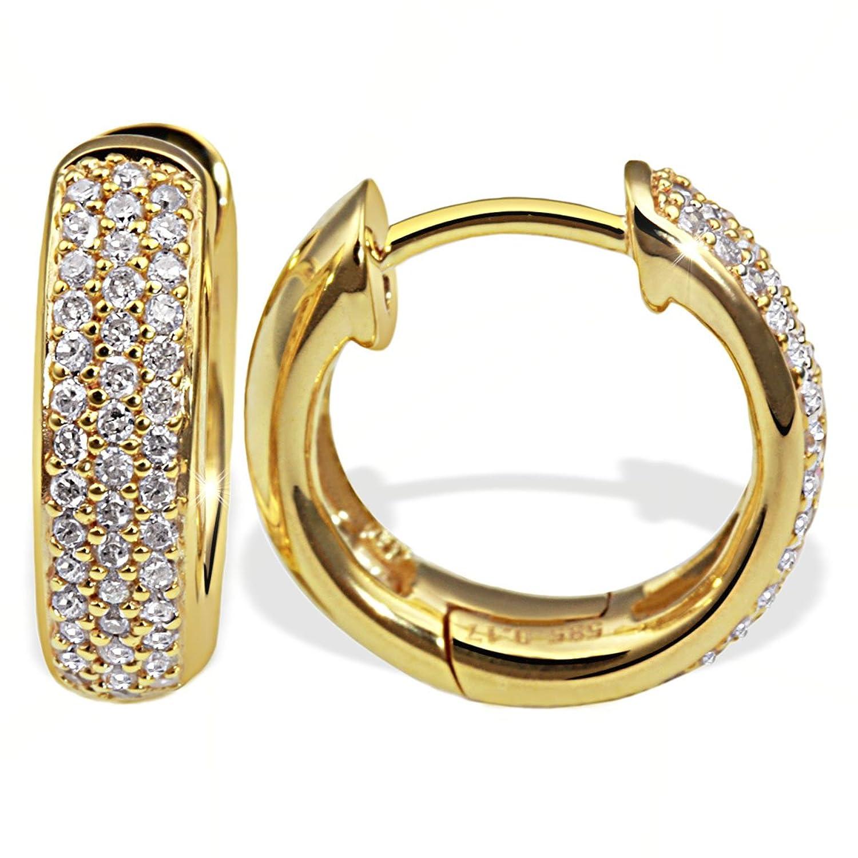 Goldmaid Damen-Creolen 585 Gelbgold 86 Diamanten 0,34ct Pa O4231GG günstig kaufen