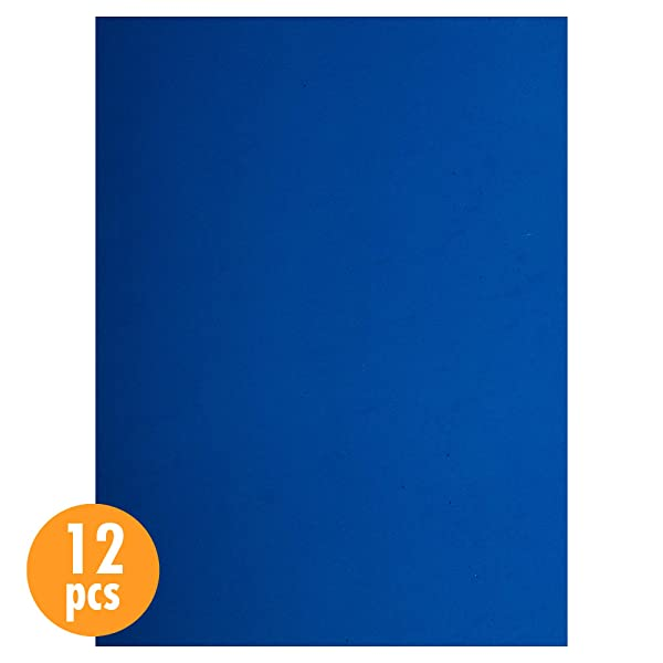 CTG, EVA Foam Sheets, 9 x 12 inches, Blue, 12 Pieces (Color: Blue, Tamaño: 9 x 12 inches)
