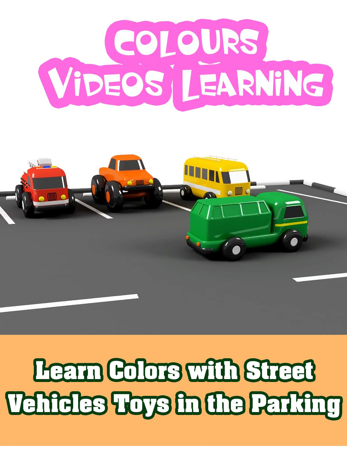 Learn Colors with Street Vehicles Toys in the Parking