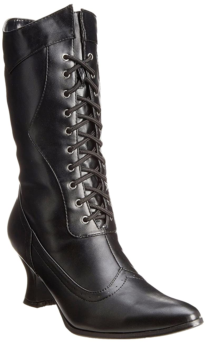 Ellie Shoes Women's Amelia Victorian Boots Black Polyurethane Vintage Ankle Boot with Zipper 0