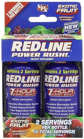 Отзывы VPX REDLINE Power Rush 7hr Energy Shot Beverage, Exotic Fruit, 2.5-Ounce Bottles (Pack of 24)