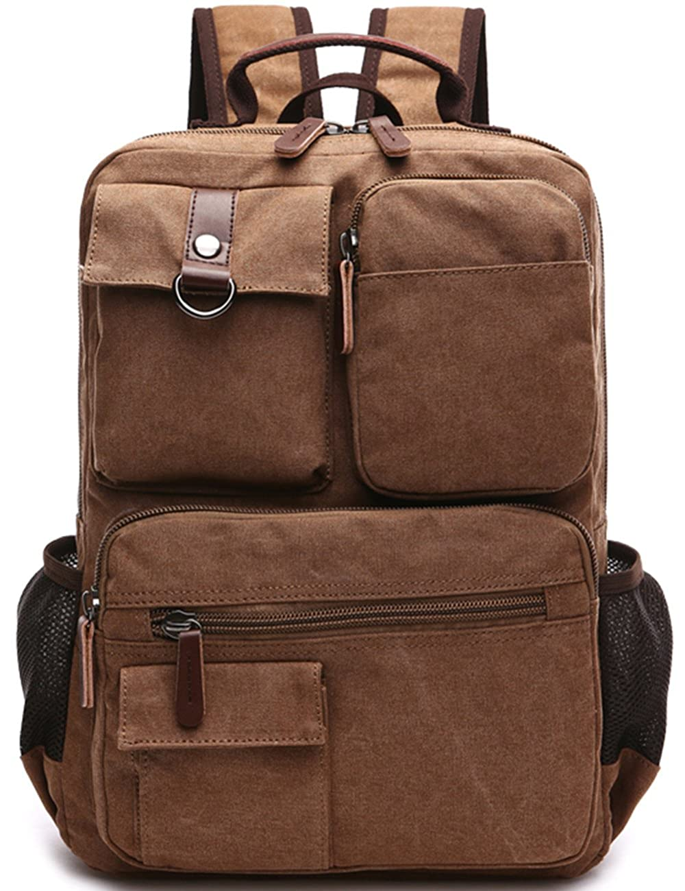 Aidonger Vintage Canvas School Backpack Laptop Backpack 1