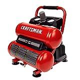 Craftsman Air Compressor, 2 Gallon Portable Air Compressor, Twin Tank, 1/3 HP Oil-Free Max 125 PSI Pressure, Model: CMXECXA0220242 (Color: Red, Tamaño: 2 Gallon)