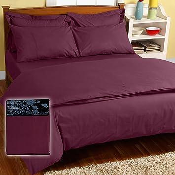 homescapes taied 39 oreillerrectangulaire 5050x75cm prune 200fils cuisine maison ee113. Black Bedroom Furniture Sets. Home Design Ideas
