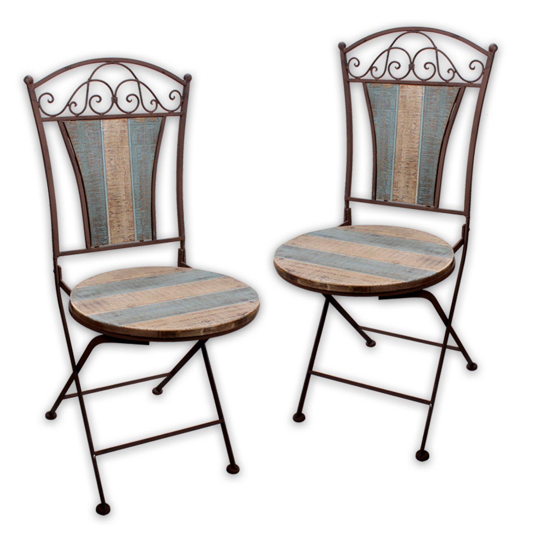 """Gartenstuhl """"Nostalgica I"""" in Rostoptik für indoor und outdoor / einzeln, 2er SET od. 4er SET (2er SET) online bestellen"""