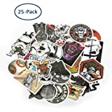 Cartoon Stickers, Echeer Star Wars PVC Waterproof Stickers for Decorate Laptop, Notebooks, Car, Bicycle, Skateboards, Luggage etc (25PCS No-Duplicate Stickers Pack)