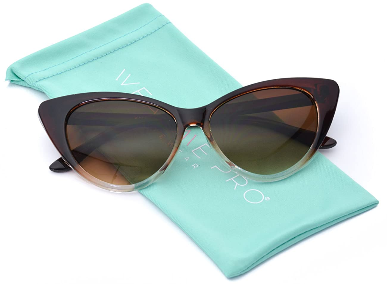 Vintage Inspired Fashion Mod Chic High Pointed Cat Eye Sunglasses for Women 0