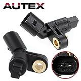 AUTEX 2PCS ABS Wheel Speed Sensor Front Left & Right ALS465 ALS470 compatible with Volkswagen Jetta & Passat/Replacement for Volkswagen Golf 1993-2006 & Corrado 1994-95 & Cabrio 95-02 & Beetle 98-10 (Tamaño: ALS465)