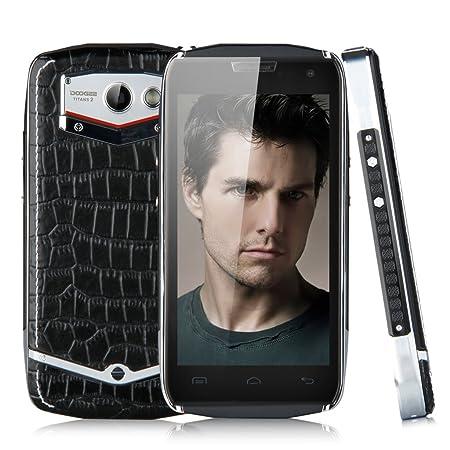 3G Smartphone Anti-poussière Anti-choc Anti-rayures DOOGEE TITANS2 DG700 4,5 pouce IPS QHD Ecran HotKnot Android 4.4 MTK6582 Quad Core 1Go RAM+8Go ROM Dual SIM Caméra 5MP support GPS OTG WIFI Bluetooth compatible avec orange Virgin Bouygues