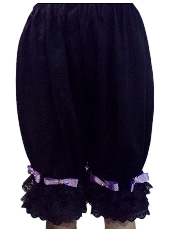 Frauen Handgefertigt Halb Slips UL5CBDBK2 Black Half Slips Cotton Women Pettipants Lace kaufen