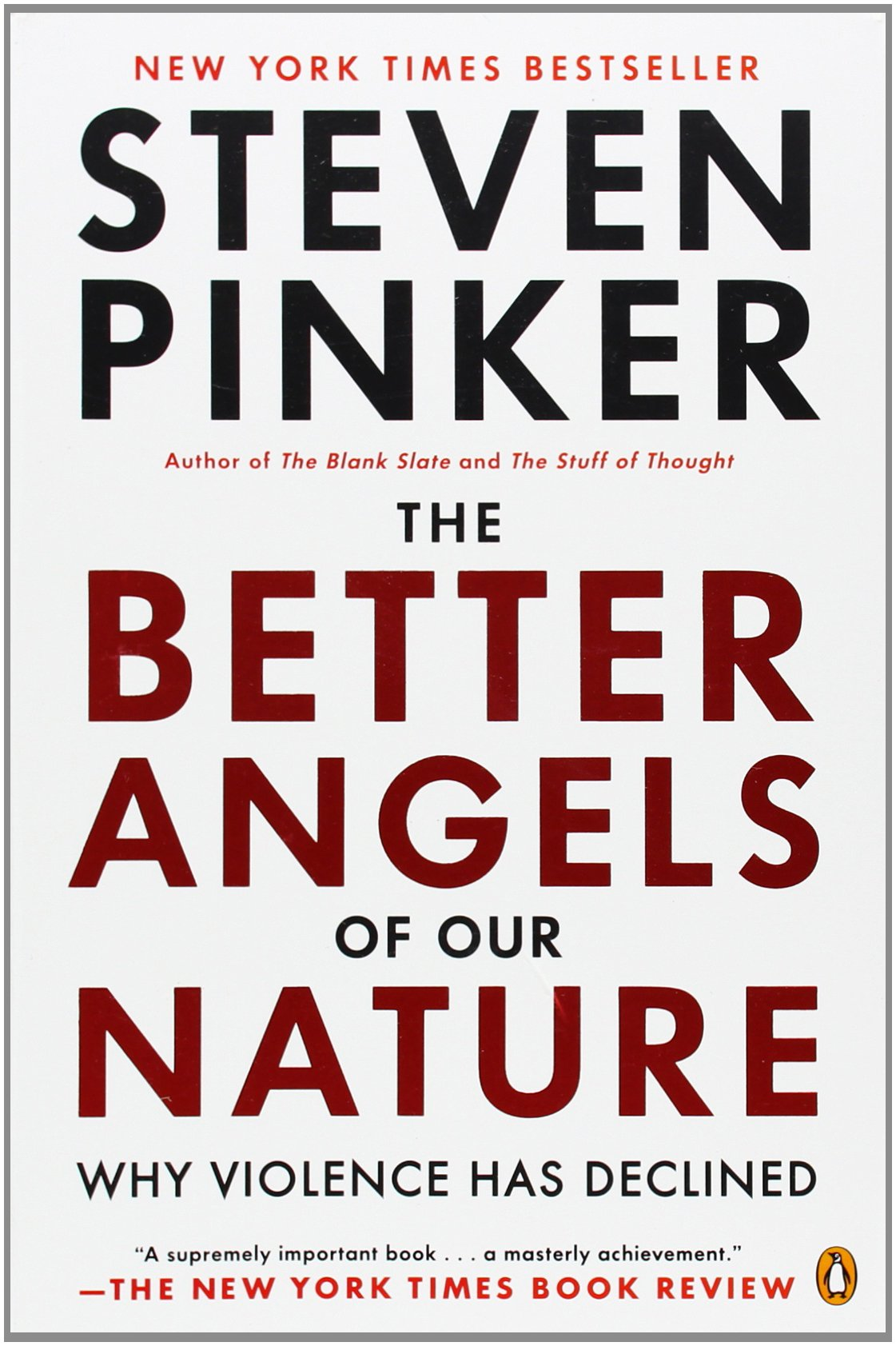 The Better Angels of Our Nature ISBN-13 9780143122012