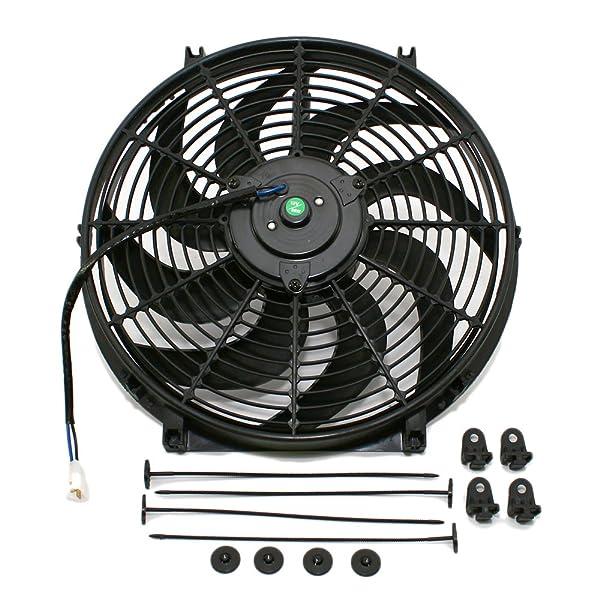 "mounting kit black 2 × 10/"" inch Universal Electric Radiator RACING COOLING Fan"