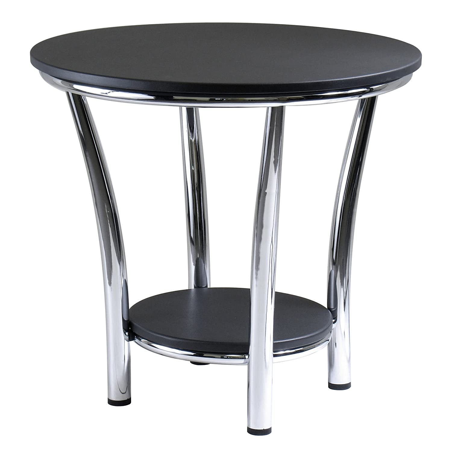 New contemporary round side end table modern style decor for Modern decorative table accents