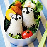 YunKo Rice Mold Onigiri Shaper and Dry Roasted Seaweed Cutter Set, Baby Penguin (Color: As Picture)