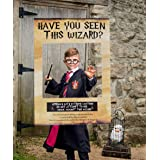 LaVenty Have You Seen This Wizard Photo Booth Prop Wizard Inspired Photo Booth Frame Wizard Birthday Party Photo Booth Props for Wizard Theme Party Decorations
